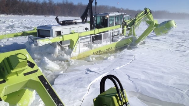 The Province of Manitoba has retrofitted their Amphibex ice-breaking machines in advance of ice-mitigation season.