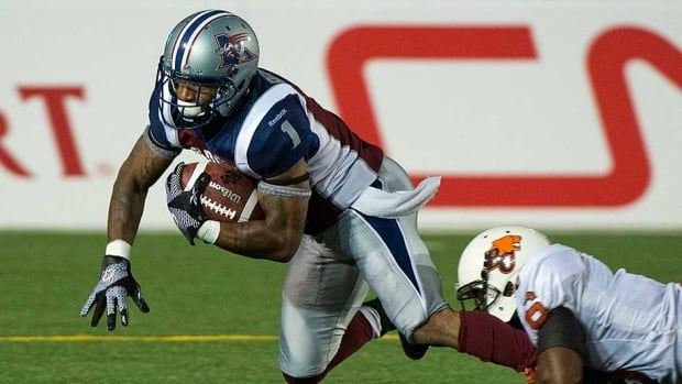 Arland Bruce had 64 catches for 851 yards and five TDs last season for the Montreal Alouettes.
