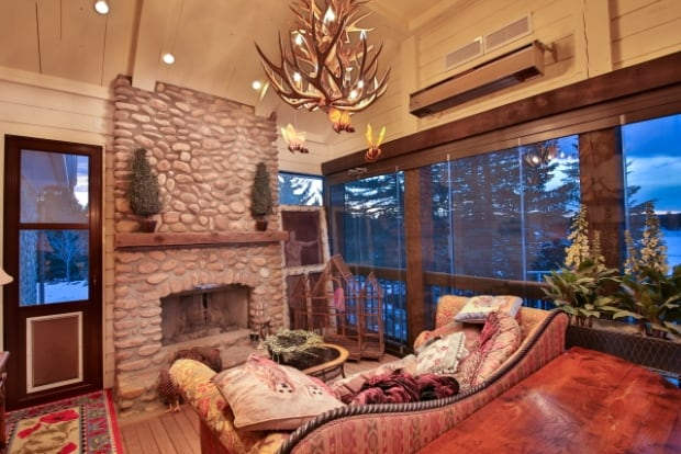 Priddis fireplace