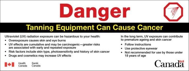 Tanning bed warnings
