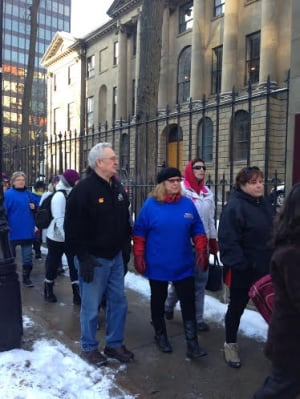 Northwood strikers arrive at Province House