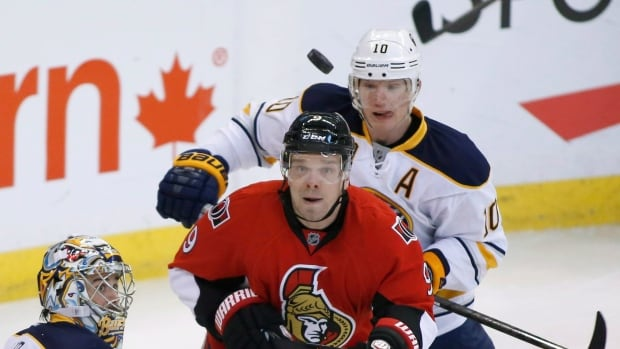 Buffalo defender Christian Ehrhoff, seen in action in Ottawa in December, is among a number of Sabres subject to trade rumours.
