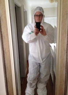 Adam Walsh hazmat suit