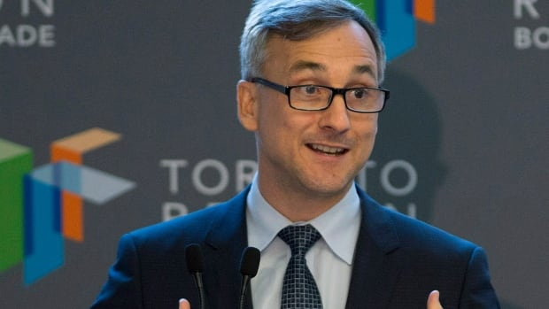Bernard Lord, president and CEO of the Canadian Wireless Telecommunications Association, speaks to Toronto Region Board of Trade on  Oct. 28, 2013. Telus has pulled out of the wireless lobby group.