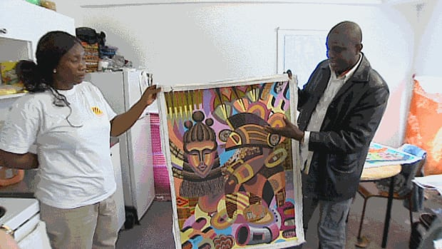 Gibril Bangura is a pastor and an artist who worked with orphans and street children in Sierra Leone before he and his family came to Winnipeg.