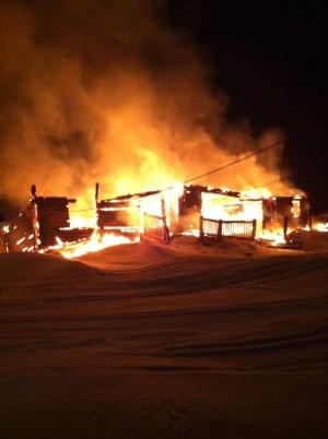 George's Lake cabin fire Feb. 27 2014