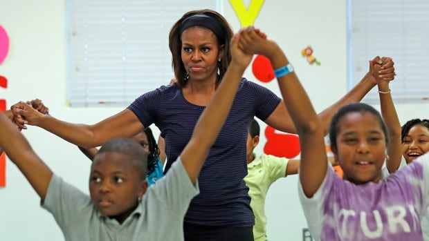 "First lady Michelle Obama ""Let's Move"" campaign against childhood obesity gets a cameo on the season finale of Parks and Recreation, to be broadcast at the end of April."