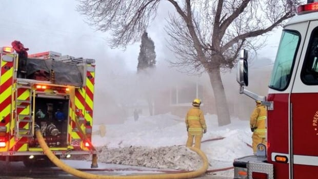Firefighters think a backdraft may have been the explosive sound heard when a fire broke out a Regina home Thursday.