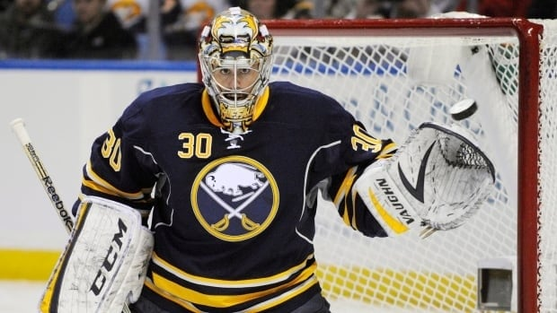 Ryan Miller appeared in 40 games for the Buffalo Sabres this season, posting a 15-22-3 record and a 2.72 goals against average.