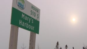 Mary's Harbour sign