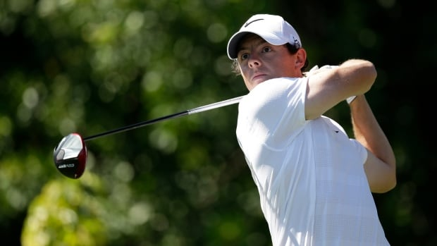 Rory McIlroy of Northern Ireland, tees off on the seventh hole during the third round of the Honda Classic golf tournament, Saturday, March 1, 2014 in Palm Beach Gardens, Fla.