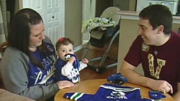 Die-hard Canucks fans Jon and Melissa Lampard were told by the NHL they couldn't take baby Quinlan to the Heritage Classic in Vancouver without a ticket of her own even though the family bought eight tickets so everyone could go.