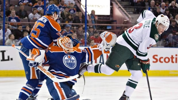 Goalie Ben Scrivens was acquired by Edmonton on Jan. 15 in a trade with Los Angeles.
