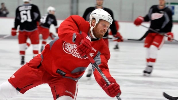 Johan Franzen now has 12 goals and 16 assists in 33 games for Detroit after last week's showing.
