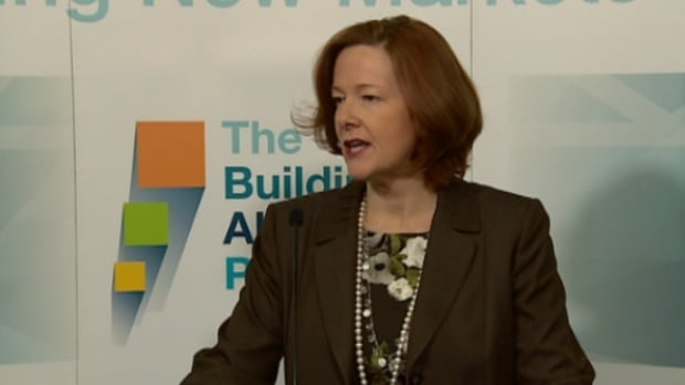Alberta Premier Alison Redford addressed Progressive Conservative MLAs hours before the lieutenant governor read the speech from the throne outlining her government's agenday.