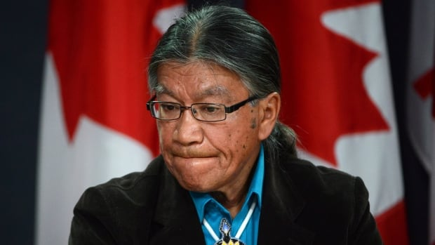 Edmund Metatawabin, 66, a survivor of St. Anne's Residential School in Fort Albany, Ont., is seen here during a press conference at the National Press Theatre in Ottawa on July 29, 2013.