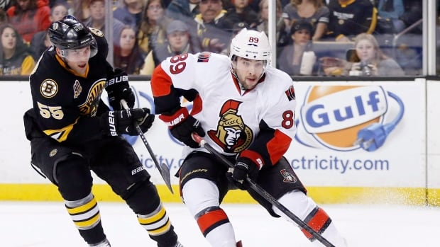 Ottawa Senators forward Cory Conacher, seen in a game against Boston in December, went undrafted after playing collegiate hockey in Western New York.