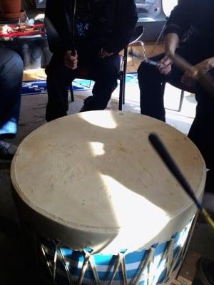 Drumming at Sagatay
