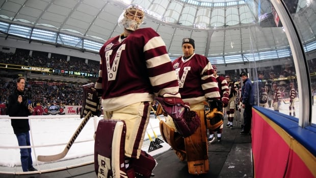 Vancouver Canucks goalie Eddie Lack, left, and Roberto Luongo, both tweeted after the news that Luongo had been traded to the Florida Panthers.