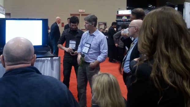 A prospector presents results of his work at the PDAC mining convention in Toronto this week.