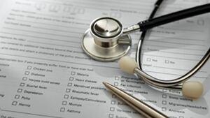 Doctor stethoscope chart
