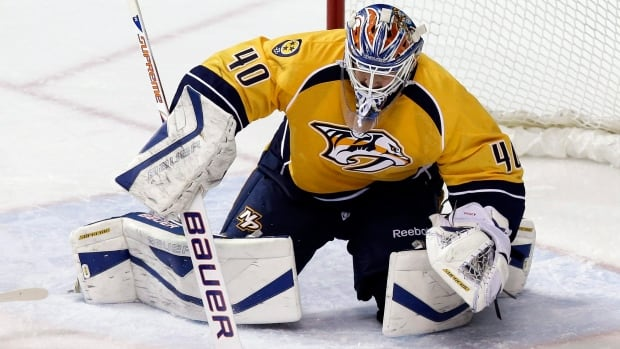 Devan Dubnyk appeared in just two games for Nashville after spending parts of five seasons with Edmonton.