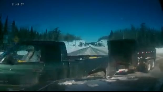 This screen capture was taken from a dashboard camera video of the collision between two vehicles on Highway 17 on Saturday, March 1.