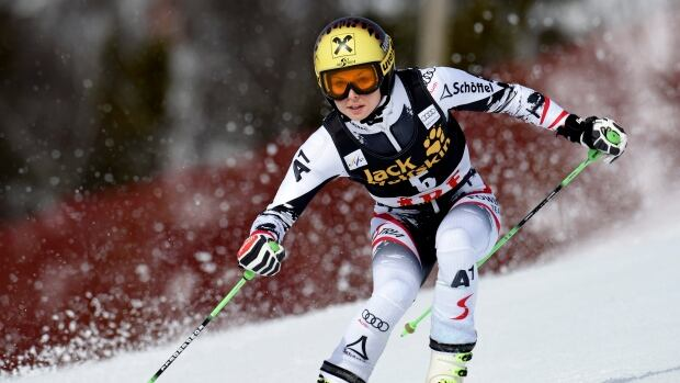 Austria's Anna Fenninger has carried her Olympic momentum back into the resumption of the World Cup season.