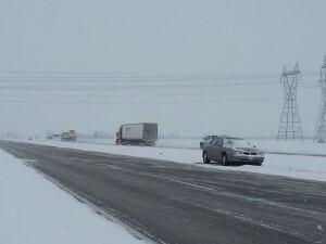 Highway snow
