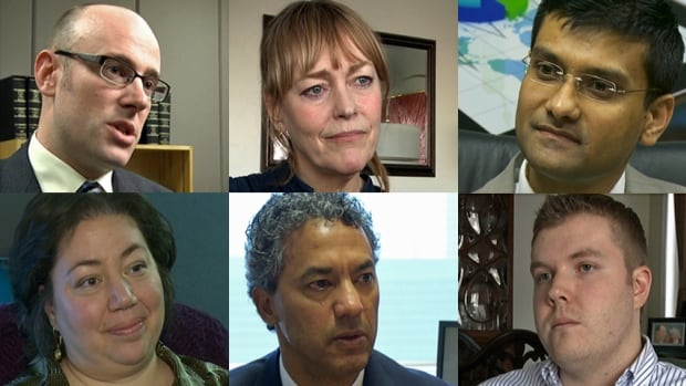 Top, from left: David Macdonald, senior economist at the Canadian Centre for Policy Alternatives; Isabella Mindak, trying to find work; Sharif Faisal, economist and labour market analyst for the Information and Communications Technology Council.
