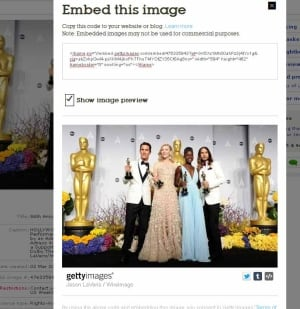 Getty Images introduces photo-embedding viewer