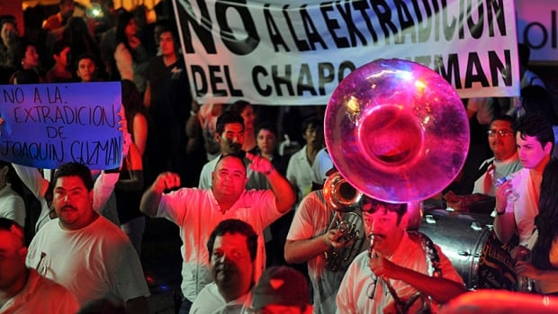 Complicating the situation have been the repeated marches of pro-Shorty supporters on the streets of Culiacan, the drug lord's bastion, where Joaquin Guzman is seen as a kind of Robin Hood. His supporters want him freed or, at the very least, not extradited to the U.S.