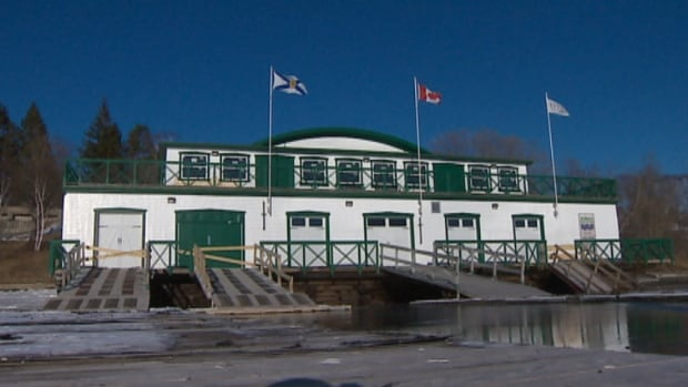 The 95-year-old St. Mary's Boat Club is used for meetings and weddings. There's a plan to raise the building by about 60 centimetres to prevent storm surges from flooding the facility.