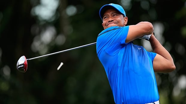 Tiger Woods during the first round of the Cadillac Championship at Trump National Doral on March 6, 2014 in Doral, Florida.