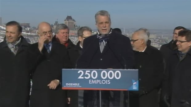 Quebec Liberal leader Philippe Couillard announced a new maritime strategy for the development of Quebec's maritime infrastructure Friday.