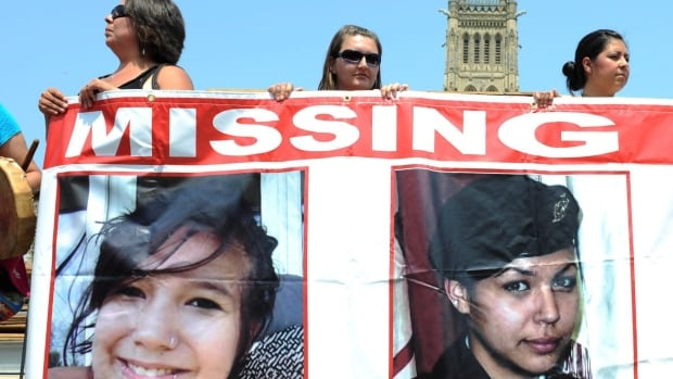 A final report of the Special Committee on Violence Against Indigenous Women is being tabled in Parliament today. A Sisters in Spirit rally on Parliament Hill in Ottawa on Oct. 4, 2013 was held to remember missing and murdered aboriginal women such as Maisy Odjick (left) and Shannon Alexander (right).