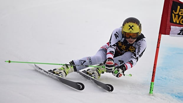 Anna Fenninger of Austria competes during the World Cup women's Giant Slalom on Friday in Are, Sweden.