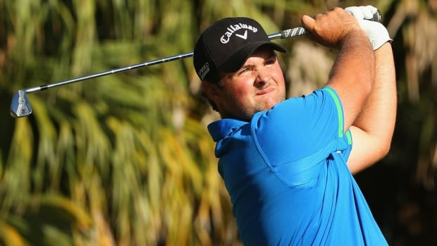 Patrick Reed watches his tee shot on the 13th hole during the third round of the World Golf Championships-Cadillac Championship at Trump National Doral on Saturday in Doral, Fla.