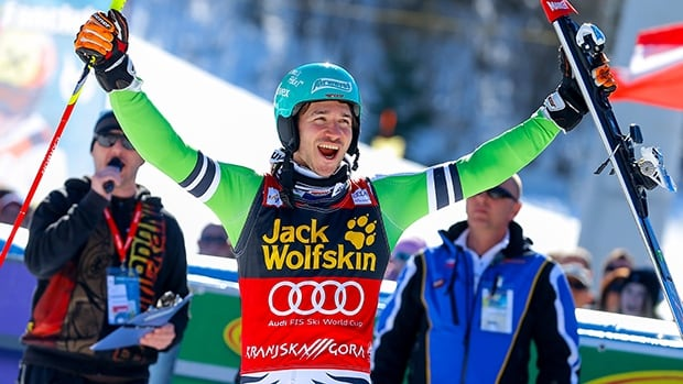 Felix Neureuther of Germany takes 1st place during the Audi FIS Alpine Ski World Cup men's slalom on March 09, 2014 in Kranjska Gora, Slovenia.