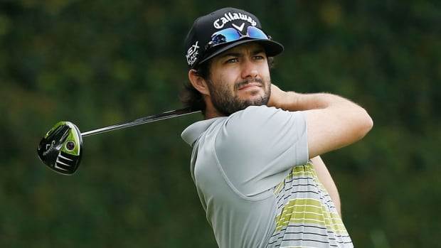 Canada's Adam Hadwin, shown here last year, earned a one-stroke victory over Australia's Alistair Presnell Sunday.