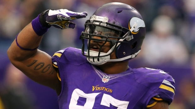 Everson Griffen of the Minnesota Vikings was a fourth-round draft pick from USC in 2010.