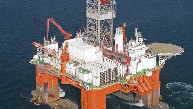 The West Aquarius semi-submersible drill rig.