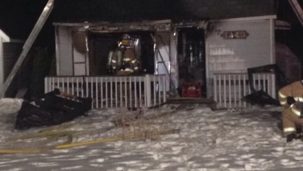 Tecumseh Fire Chief Doug Pitre grew up in the house destroyed by fire early Monday.