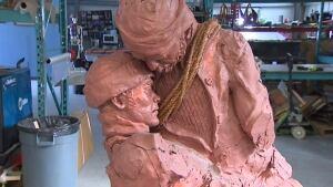 Newfoundland sealing disaster sculpture