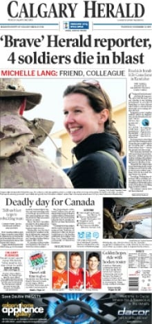 Michelle Lang front page