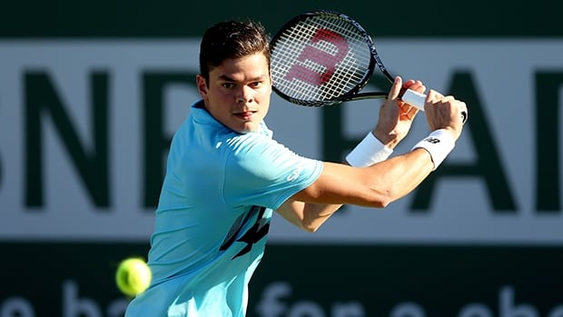 Milos Raonic had 10 aces in a 6-4, 6-3 defeat of Colombian Alejandro Falla.