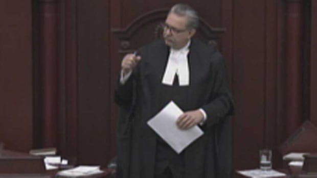 Speaker Gene Zwozdesky made reference to the letter from Innisfail Middle School when he lectured members of the legislature about their behaviour on Monday.