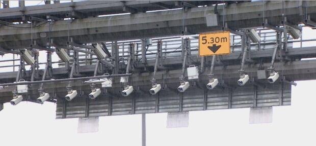 Electronic tolling cameras - bridge tolls - Golden Ears Bridge