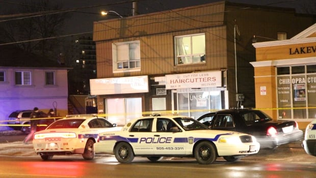 One person suffered minor injuries following a violent home invasion in Mississauga last night.