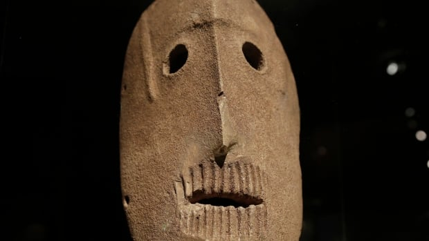 Eleven stone masks dated to 9,000 years ago went on display at the Israel Museum in Jerusalem on March 10. The masks are believed to be the oldest in the world and offer a rare glimpse into civilization's first communal rituals.